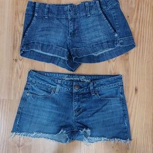 2 American eagle shorts size 6